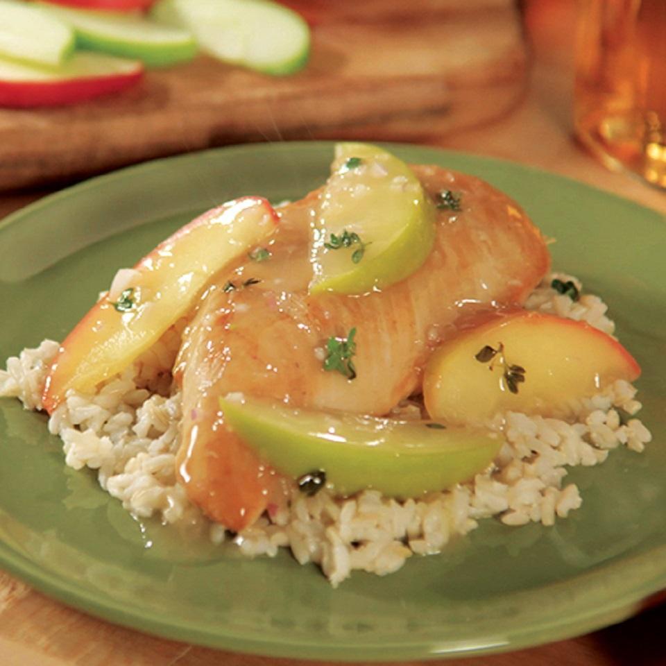 Apple Cider Chicken with Wild Rice