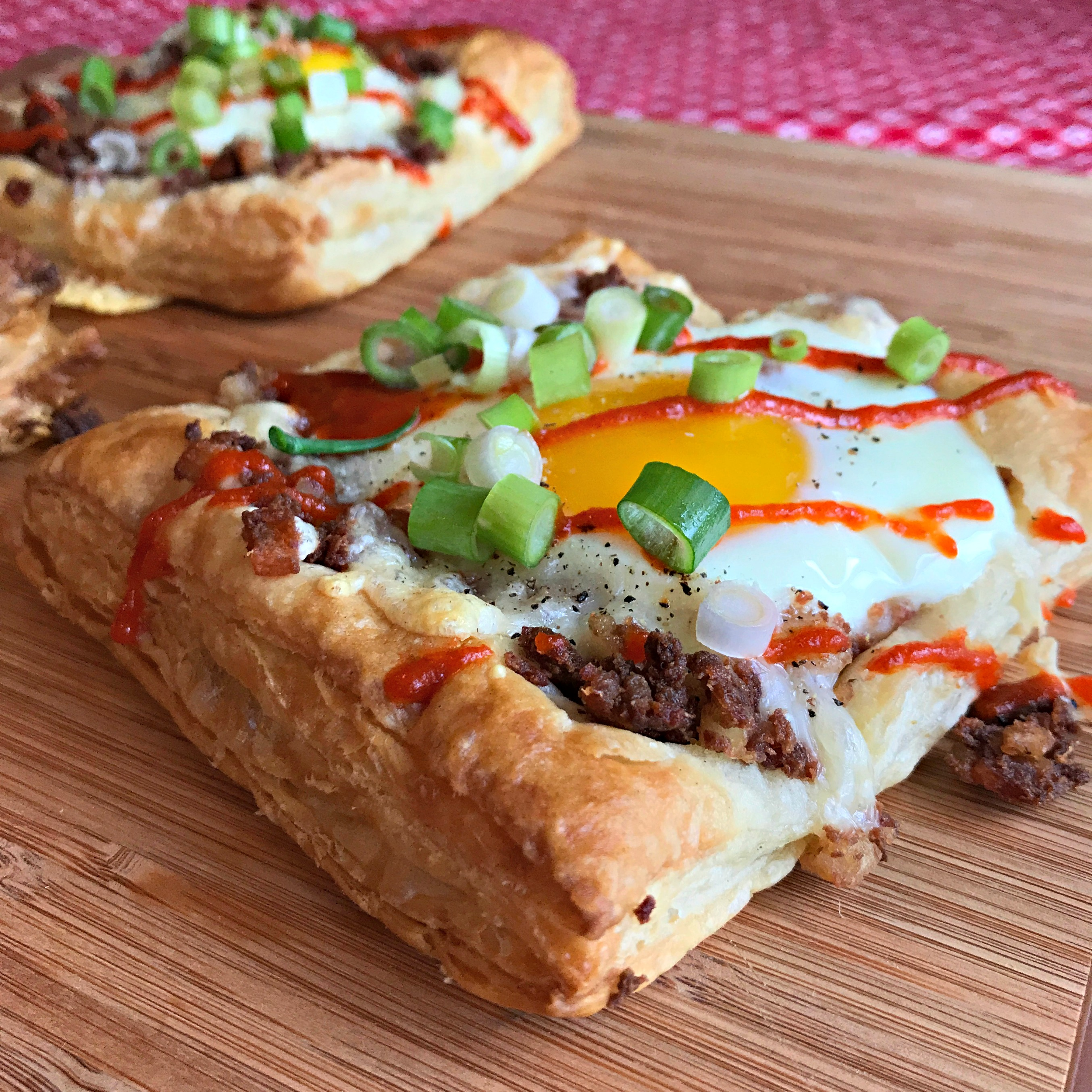 Corned Beef Hash & Egg Pastry Squares