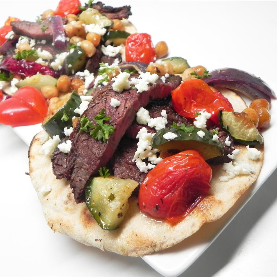 Flank Steak and Veggie Tacos