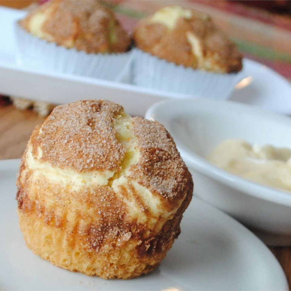 Orange Juice Muffins with Honey Spread