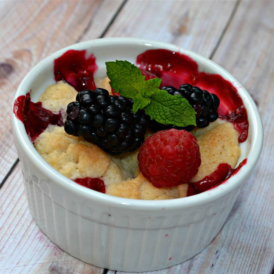 Raspberry and Blueberry Cobbler