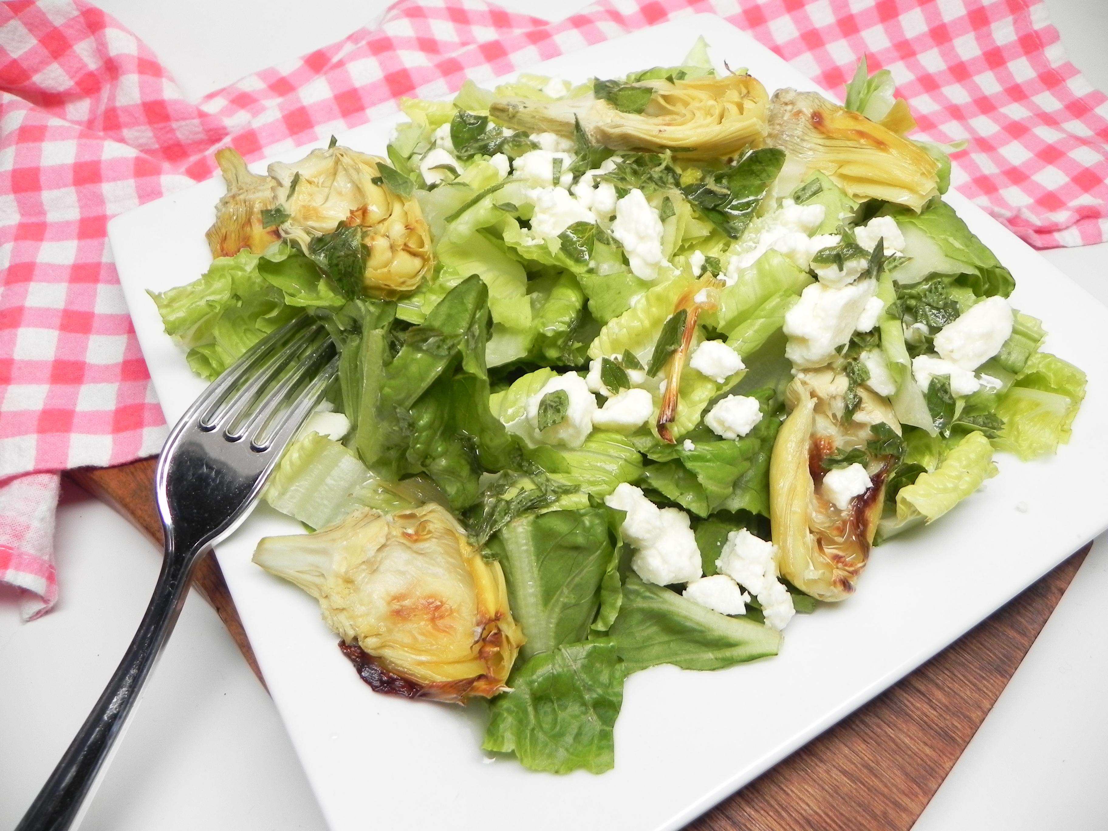 Roasted Artichoke Greek Salad