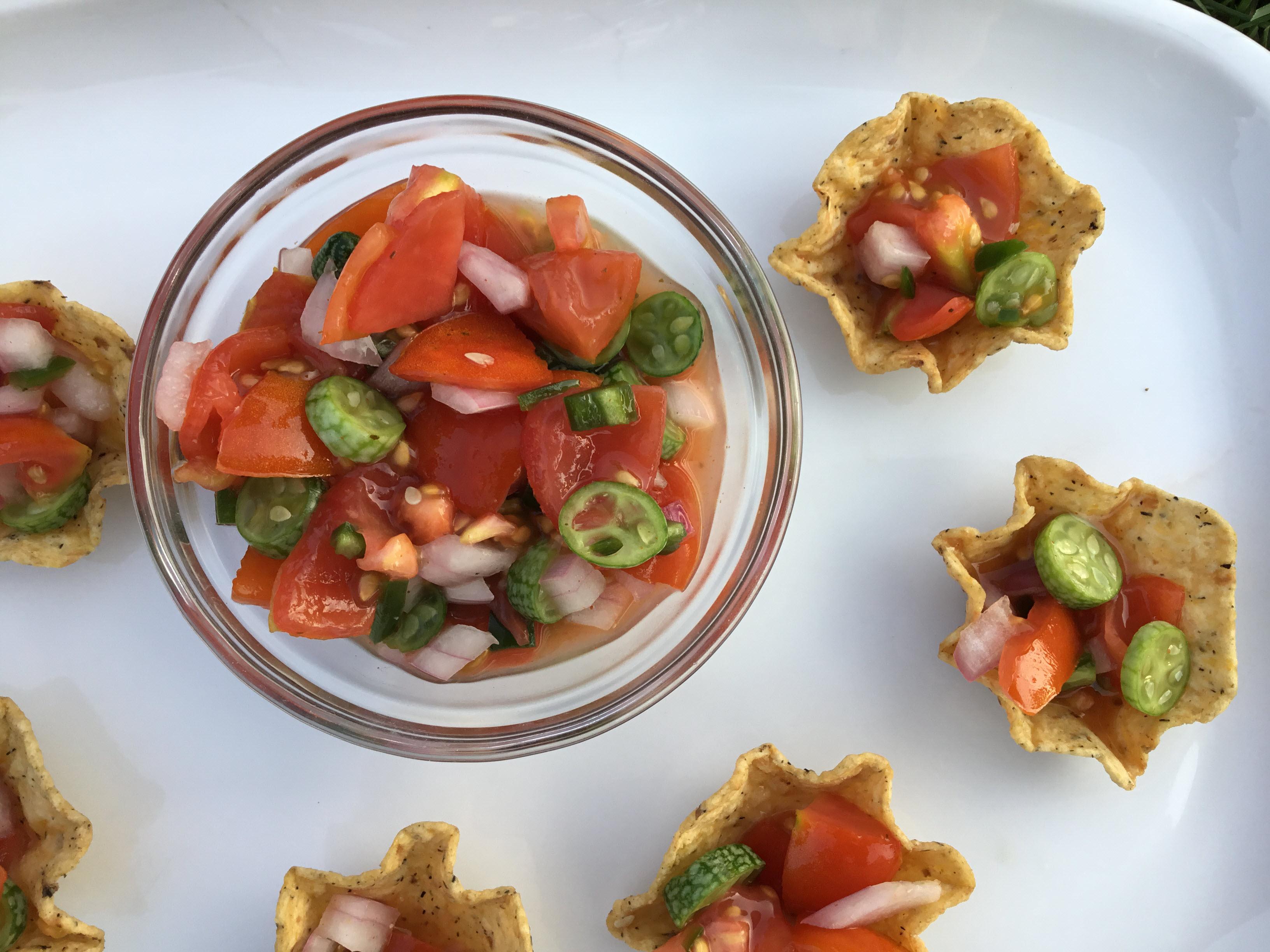 Tomato and Cucamelon Salsa